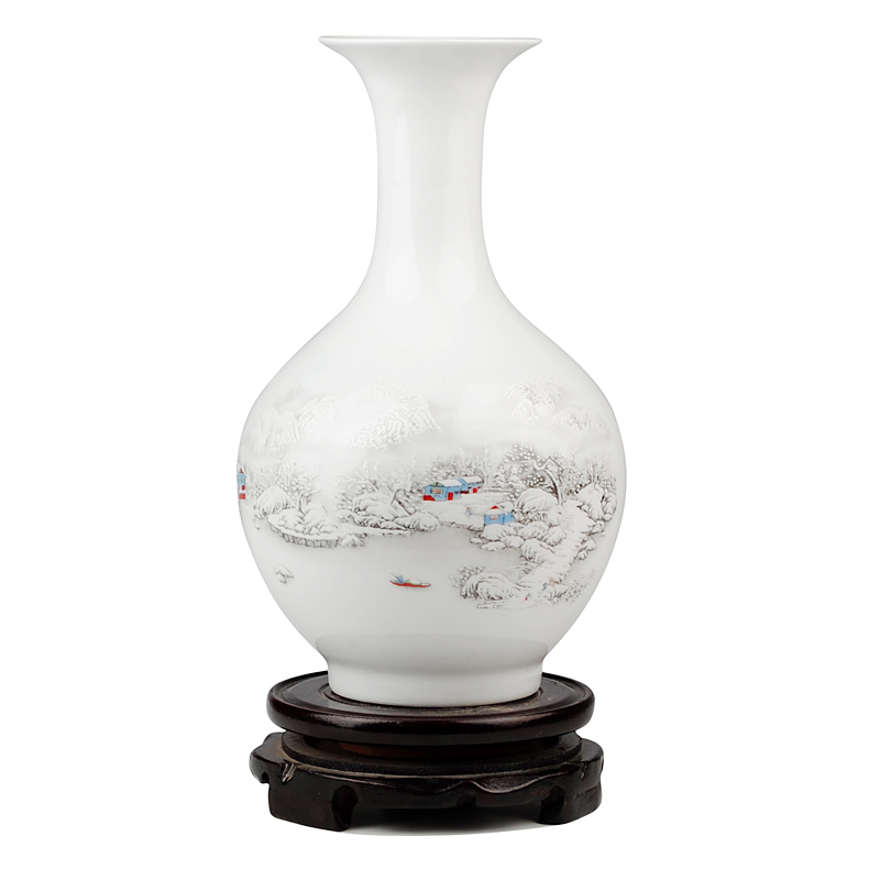 jingdezhen ceramics vase vase home furnishing snow decoration furnishings ikea vase ornaments in. Black Bedroom Furniture Sets. Home Design Ideas