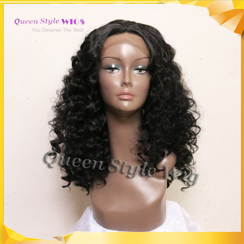 Synthetic Black Beyonce Lace front Wig Heat Resistant Fluffy Kinky Curly lace Stunning Beauty Wavy Wigs Women - Queen Style trade Co.,Ltd store
