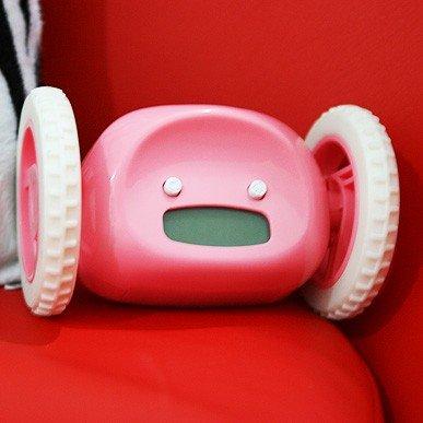 2013 lazy killer creative idea will be to run clock alarm clock alarm clock will run (pink) 8.9*13.4CM Free shipping