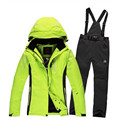 Women Men Ski Jacket pant set Thicken Warm Unisex Winter Snowboard Jacket Trousers suit Waterproof Windproof