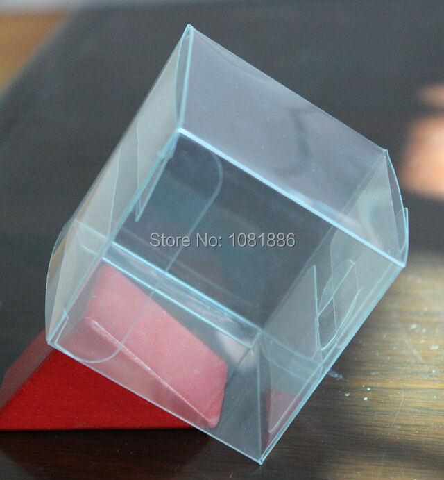 30*30*30MM Small Chocolate Candy packaging clear plastic gift box(China (Mainland))