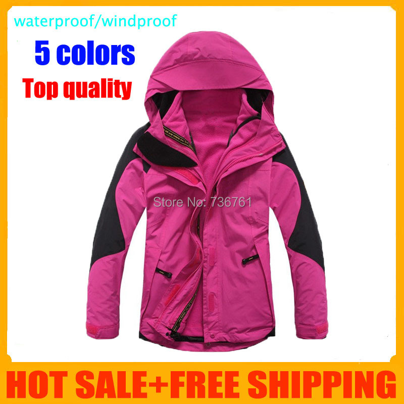 Dropshipping 3in1 hiking Climbing clothes sports coat waterproof windproof skiing brand womens winter outdoor jacket with liner<br><br>Aliexpress