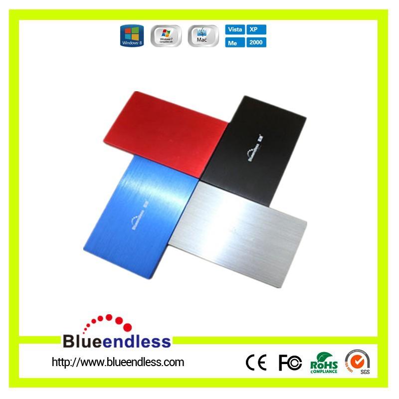 hard disk box 2.5'' laptop SATA serial port hard disk caddy ultrathin metal aluminum HDD case Enclosure1pcs/lot BlueendlessU25YA(China (Mainland))