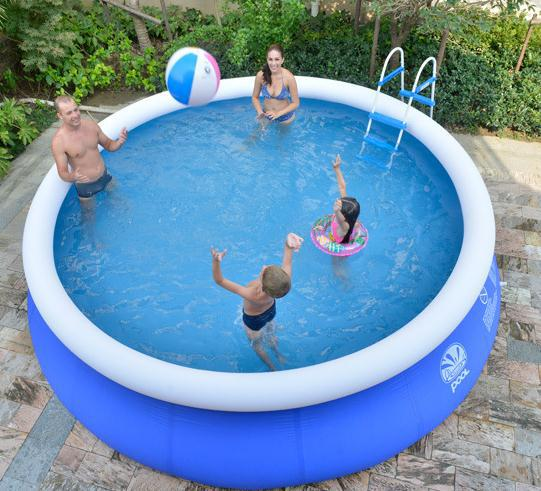 240*63CM Inflatable Swimming Pool, Baby Plastic Swimming piscina with air Bump strong plastic material(China (Mainland))