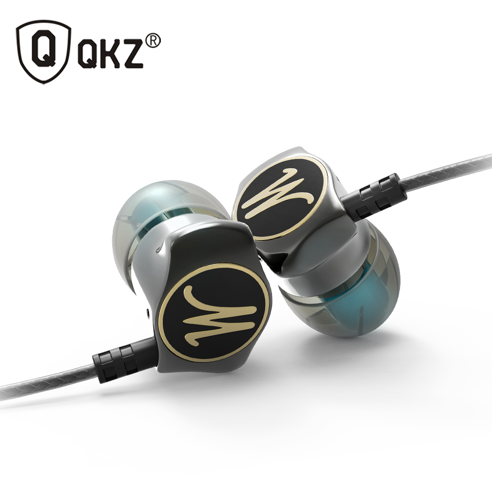 Earphone Zinc Alloy QKZ DM7 In Ear Earphones HiFi Ear Phone Metallic Earbuds Stereo in-Ear Earphone Noise Cancelling Headsets DJ(China (Mainland))