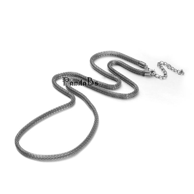 """Iron Lantern Chain Necklace Makings, with Brass Lobster Claw Clasps and Iron End Chains, Black, 29.5""""(China (Mainland))"""
