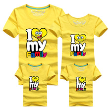 2015 new family look t-shirt minion father mother and kids clothes cotton children clothing short sleeve tshirt 8 colors