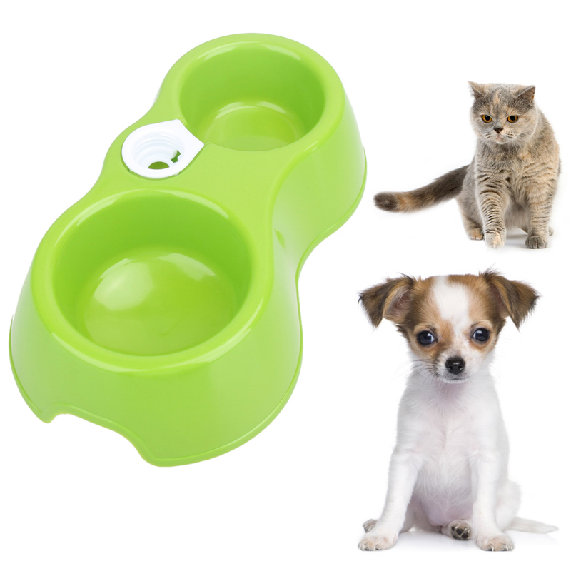 Hot Sale Dual Port Dog Automatic Water Dispenser Feeder Utensils Bowl Cat Drinking Fountain Food Dish Pet Bowl(China (Mainland))