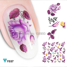 Mixed Color 6 PCS Nail Stickers Beautiful 3D Water Stickers with Fish Flower Design Convenience DIY Decoration Nail Tools