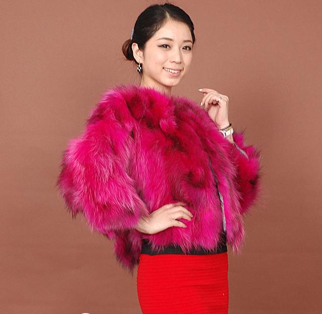 Бесплатная доставка подлинной енот женская мех енота куртка зимний мех жилеты красочные ...