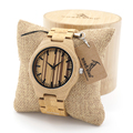 BOBO BIRD Naturally Mens Minimalism Luxury Unique Bamboo Wooden Watches With All Wood Bamboo Straps