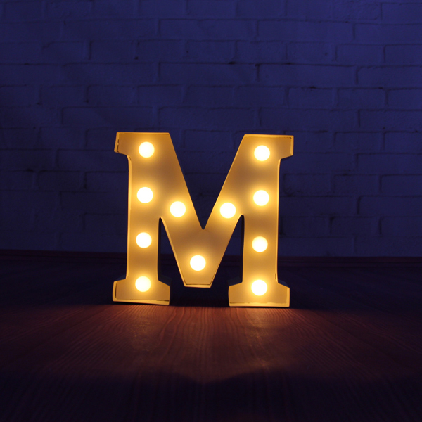 """9"""" beige metal Letters light LED alphabet Marquee Sign LIGHT UP Vintage letter signs light Indoor wall Deration customize(China (Mainland))"""
