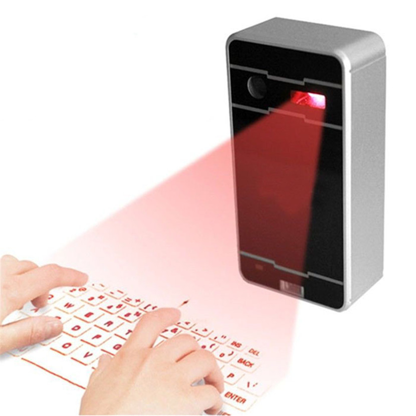 Mecall Innovative Wireless Bluetooth Laser Projection Virtual Keyboard for Phone PC Tablet Laptop(China (Mainland))