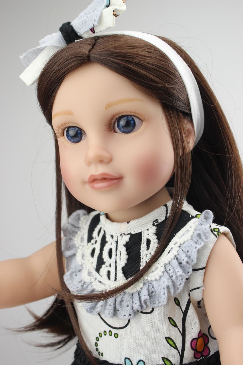 "2015 NEW Pre-Sale 18"" 45cm Half Soft Body American Girl Dolls Blac Handmade Baby Toys Birthday Gift for Girls Free shipping(China (Mainland))"