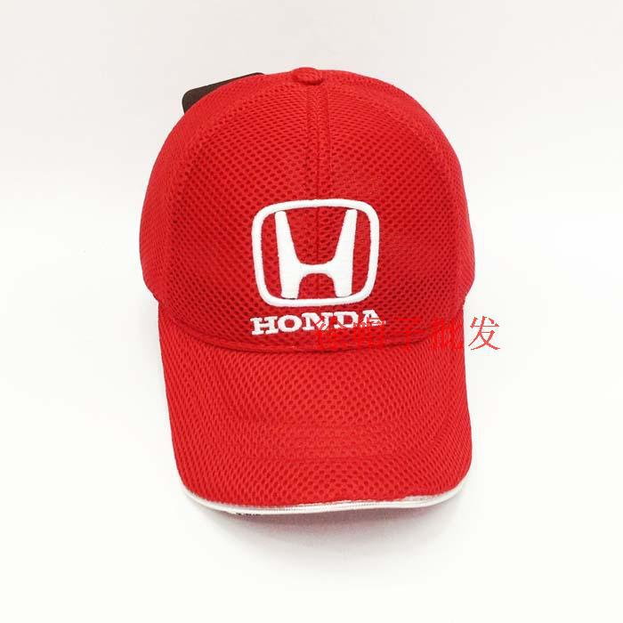 Wholesale baseball Net cap with inwrought Honda Logo Ferrary sunbonnet for F1 motor racing with air hole sport peaked cap(China (Mainland))