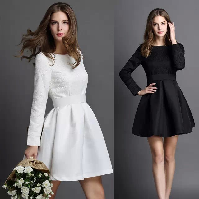 Короткое зимнее платье
