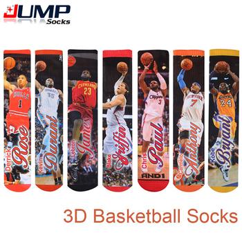 2015 летний стиль мода harajuku 3d напечатаны баскетбол носки мужчины и женщины хип-хоп ...