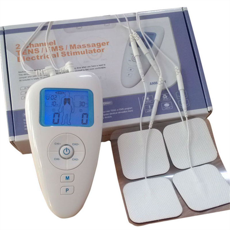 Electrical Stimulator Therapy Massager Full Body Relax Muscle Therapy Massager Pulse tens ems Acupuncture therapy massager(China (Mainland))