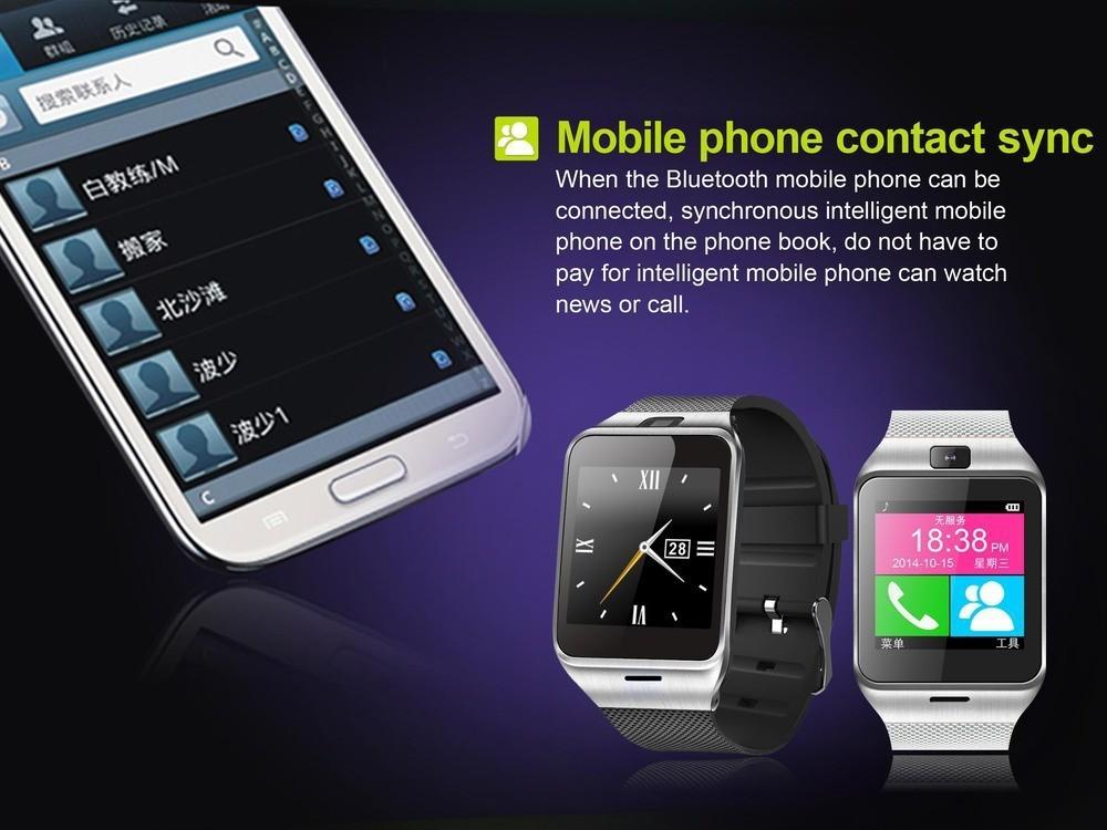 ถูก 2016แฟชั่นสมาร์ทนาฬิกาGV18สำหรับโทรศัพท์Android,สนับสนุนซิมการ์ด, NFC,บลูทูธสมาร์ทนาฬิกา550มิลลิแอมป์ชั่วโมงแบตเตอรี่ระยะเวลานานนาฬิกา