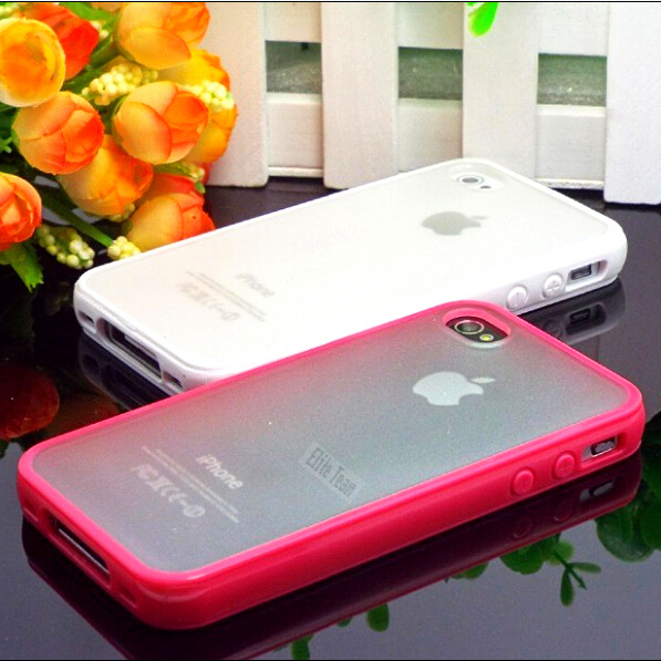 5/5S/SE Exquisite Design TPU+PC Transparent Edge Hard Case Cover Apple iPhone 5 5S SE Shell iPhone5S Cute Colors 2016 - Mobile Phone Accessories/Case And Mp3 Store store