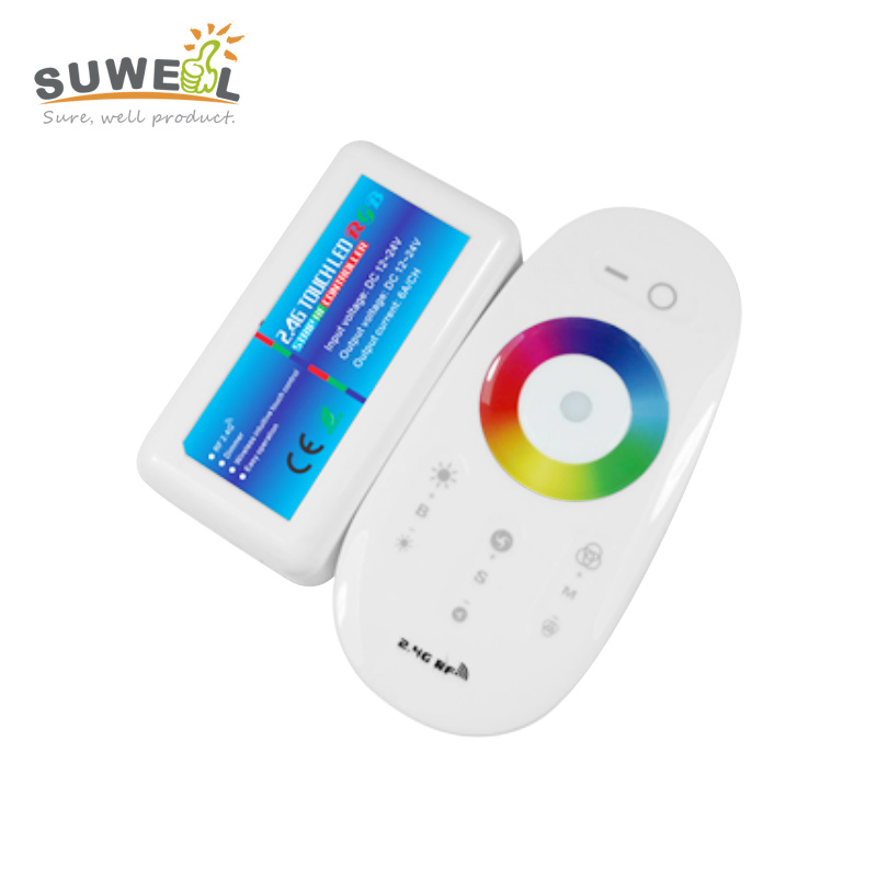 2.4g wireless led remote control rf rgb controller pwm dimmer touch switch led strip controller dc 12-24v synch control(China (Mainland))