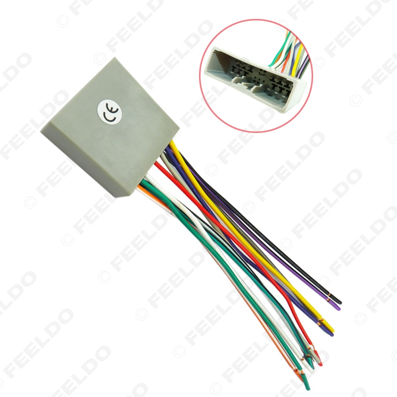 20pcs car cd player radio audio stereo wiring harness adapter for honda 06 08 civic fit crv