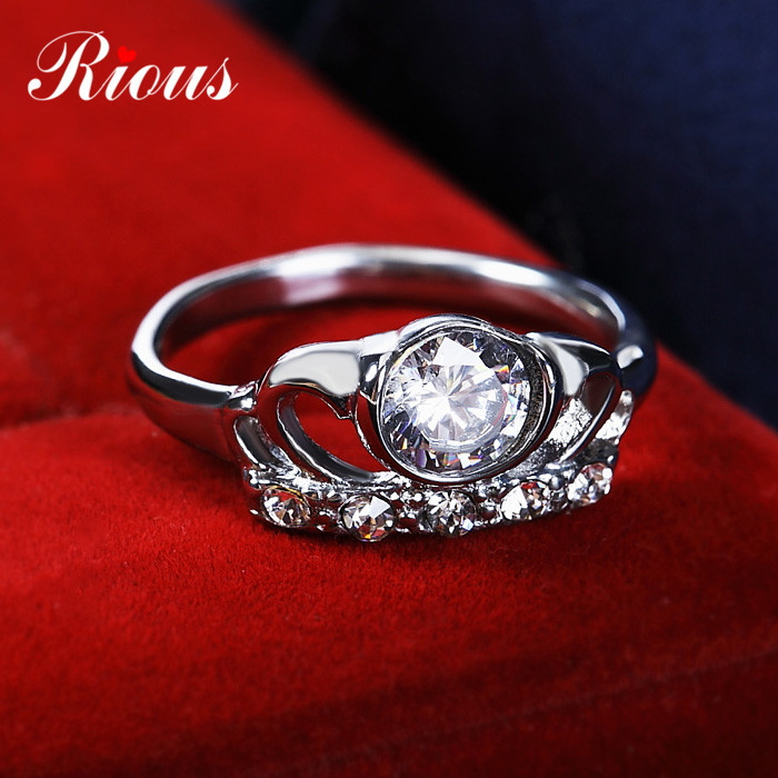 Hot Sale!! Best Quality Platinum Plated Luxury Austrian Crystals Rings,Fashion Rhinestone Rings,Wholesale Fashion Jewelry R2031(China (Mainland))
