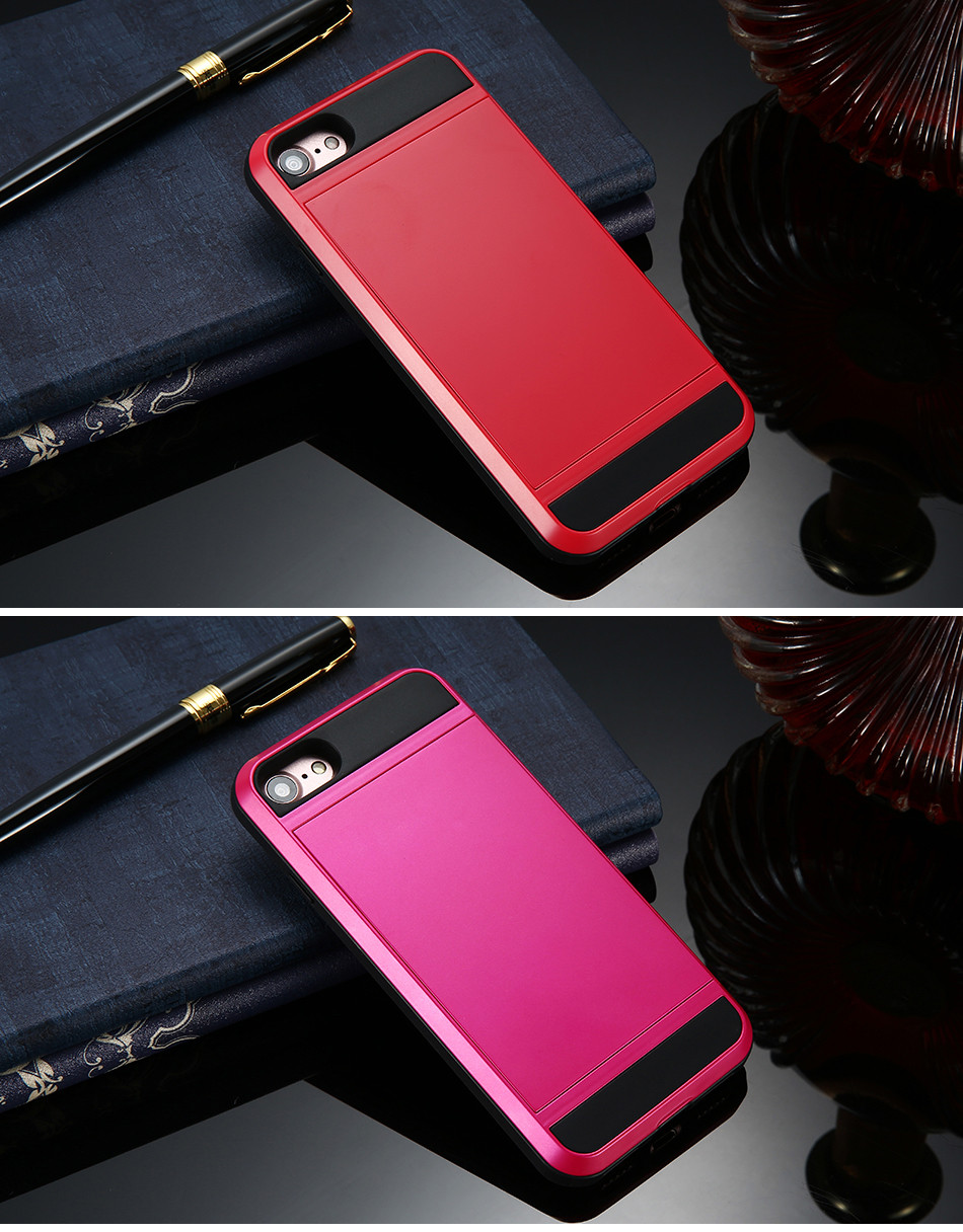 FLOVEME Armor Case For iPhone 7 Plus Capa Hybrid PC TPU Cover For Apple iPhone 7 Plus Cases Card Holder Phone Accessories Coque