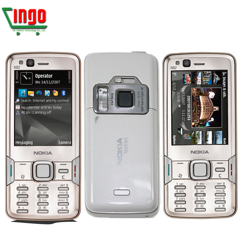12 months warranty N82 Original Unlocked Nokia N82 Mobile Phone GPS WIFI 5MP camera 2.4 inch TFT screen FREE SHIPPING IN STOCK(China (Mainland))