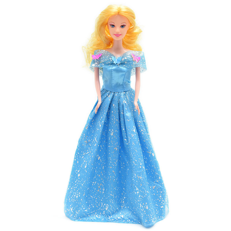 2015 New Cinderella Dolls for Baby Girls Kids Brinquedos Sharon Plastic Doll Children Princess Toys Birthday Gift In Stock DA021(China (Mainland))