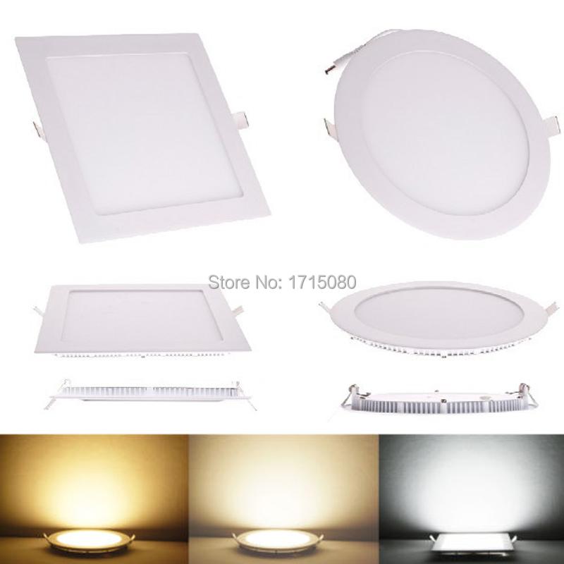 20pcs 3W 6W 9W 12W 15W 18W 24W LED downlight Square LED panel flat painel light lamp 4000K for bedroom luminaire via DHL FedEx(China (Mainland))