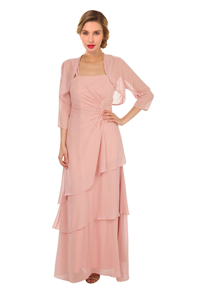 Chiffon Mother Of The Bride Dresses With Jacket Uk Cheap