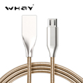 WHAY Newest All Metal Spring Wire Sync Data Charger Micro USB Cable for Samsung Galaxy S7