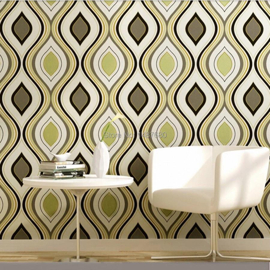 Swirls of wall paper curves geometric modern 3d wallpaper for 3d pvc wallpaper