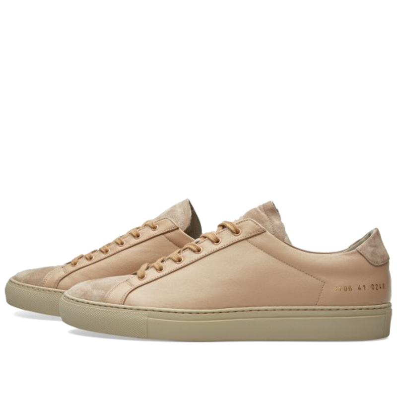 Фотография Shoes Brand Italy Common Projects Women Men Spring Autumn Classic Brown Genuine Leather Sheepskin Casual Shoes Scarpe Scollate