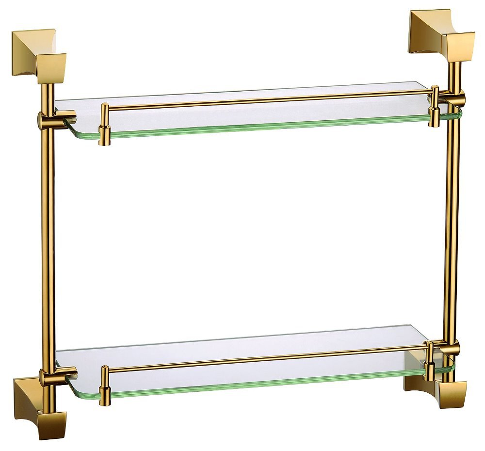 Free shipping Antique Ti-PVD gold Finish BATHROOM ACCESSORIES BATHROOM SHELVES(China (Mainland))