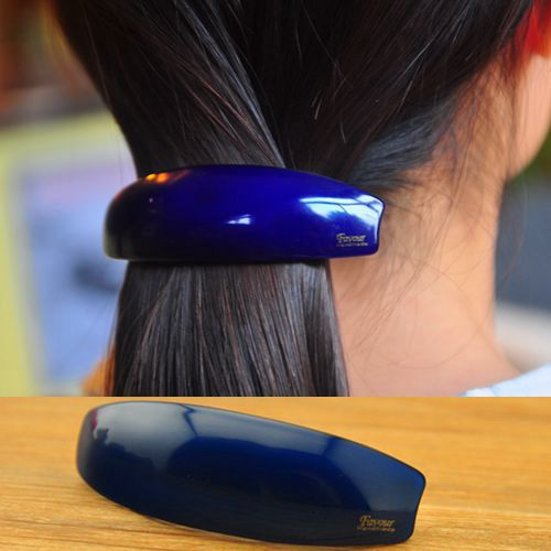brand FAVOUR professional OL hair tire Spring clip clamp hairpin acrylic candy color ponytail holder barrettes - Yifeijewelry store