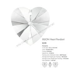 Hot sale Swarovski Elements XILION Heart Pendant 6228 10.3x10mm crystal 001 for DIY crystal jewelry(China (Mainland))