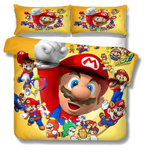 MUSOLEI 3D Bedding Set super mario bros Soft Bed Duvet Cover Set Twin Queen King Size(China)