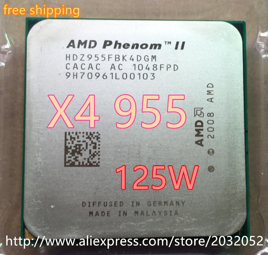 AMD Phenom II X4 955 3.2Ghz L3=6MB Quad-Core Processor Socket AM3/938-pin (working 100% Free Shipping)(China (Mainland))