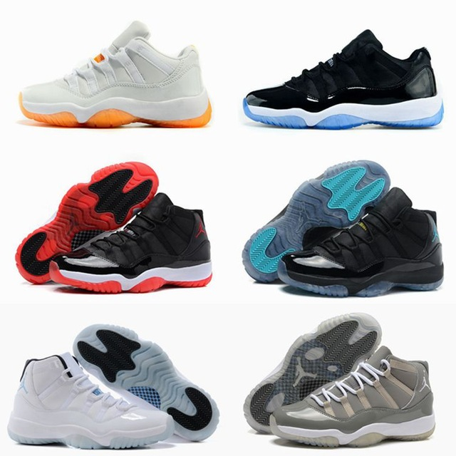 Hot Sale new style mens china Jordan 11 shoes x retro air Low Navy Gum master taxi citrus bred concords gamma(China (Mainland))