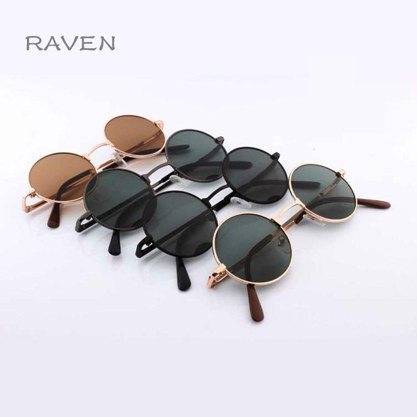 Newest Fashion Female Male Round Black Retro Sunglasses For Women Men Brand Design Pixel Gold Beauty Vintage Circle Sun Glasses(China (Mainland))