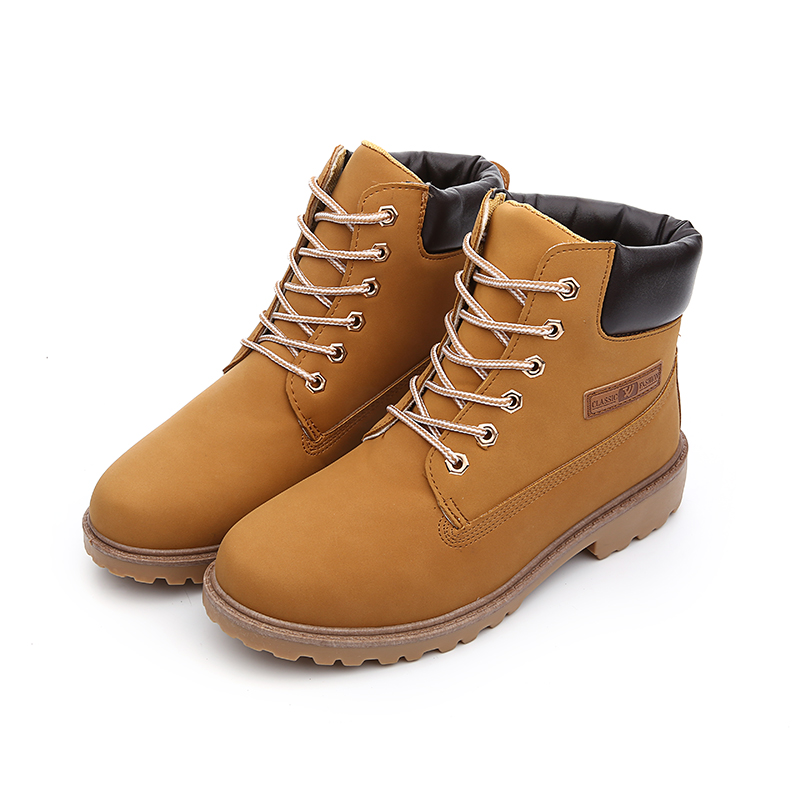 2016 Fashion Casual Men Women Boots Autumn Winter Suede Tooling Snow boot Leather Couples Martin zapatos mujer Big Size 36-46(China (Mainland))