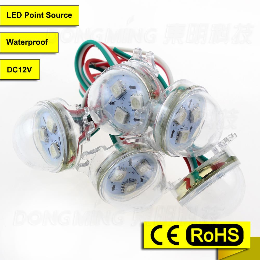 Best product 300pcs WS2801 Pixel 12V led melting point SMD5050 Watrproof IP65 led point light source in LED Modules(China (Mainland))