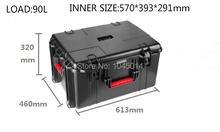Especial impermeable caja de plástico caja de ABS duro funda de protección para los viajes de campamento transporte con rueda manipulador