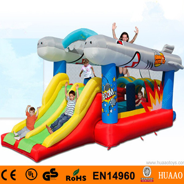 2016 New Double Lane Slide Double Flyfish Bouncer Castle for Kids with Free CE blower<br><br>Aliexpress