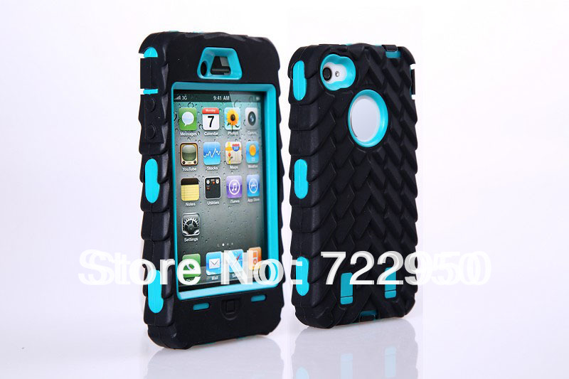 Best Non-slip Tire design silicone Shock hard case for apple iphone 4/4s Cool deformation robot style Cheap Wholesale DHL free(China (Mainland))