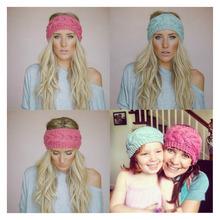New 2016 fashion 20 Colors Knitted Turban Headband For Women Head Wrap Ear Warmer Wide Hair Band Accessories CHL2217