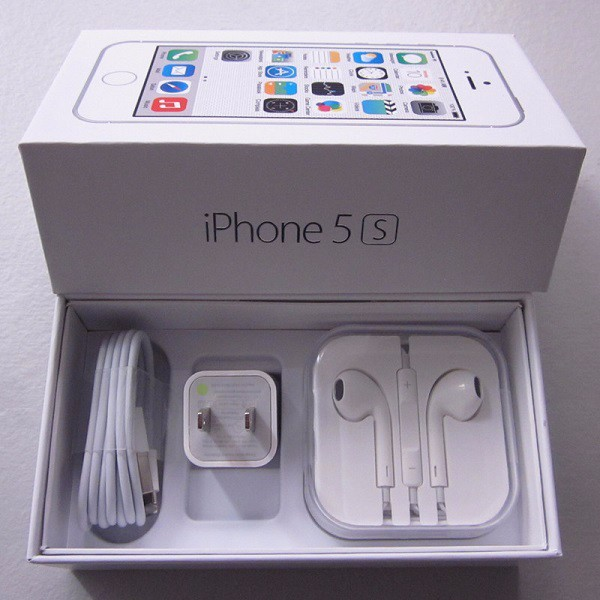 US EU Version Original high Quality Packing Box For iPhone 5S With Full Accessories Package Box For iPhone 5S