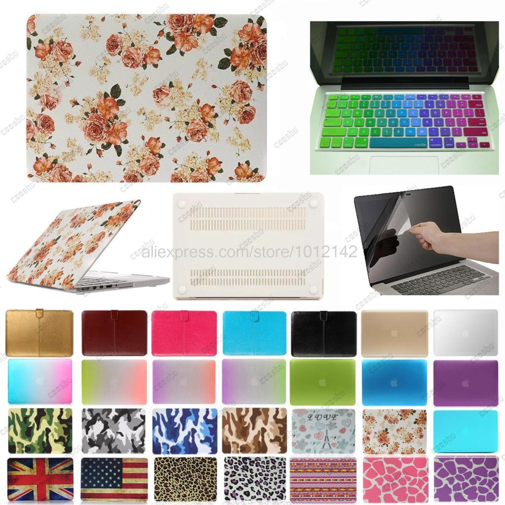 "freeship 3in1 Hard Case For Macbook Pro Air Retina 11"" 12"" 13"" 15"" + English Keyboard Skin Cover + screen protector film(China (Mainland))"